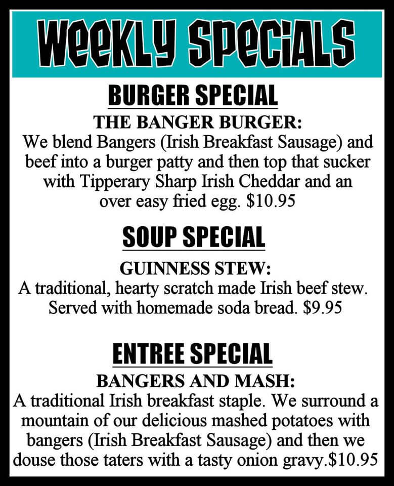Grumpy's Bar & Grill Weekly Specials