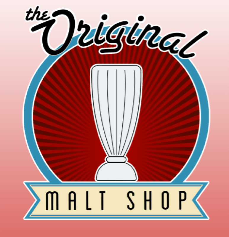 The Original Malt Shop Logo Roseville, Minnesota