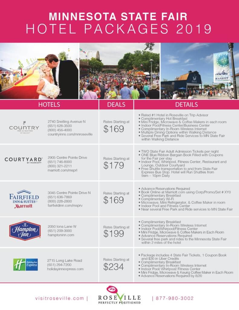 MN State Fair Hotel Package Deals Roseville